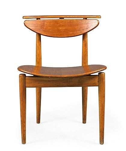 Finn Juhl teak and oak chair, Bovirke, Denmark 1950-60´s.