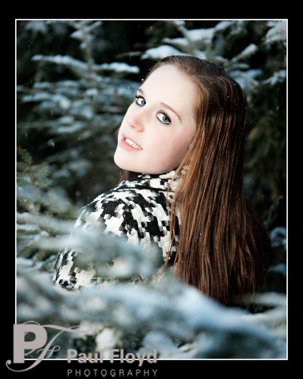 senior portraits in snow | Senior pictures in the snow! | Paul's Blog