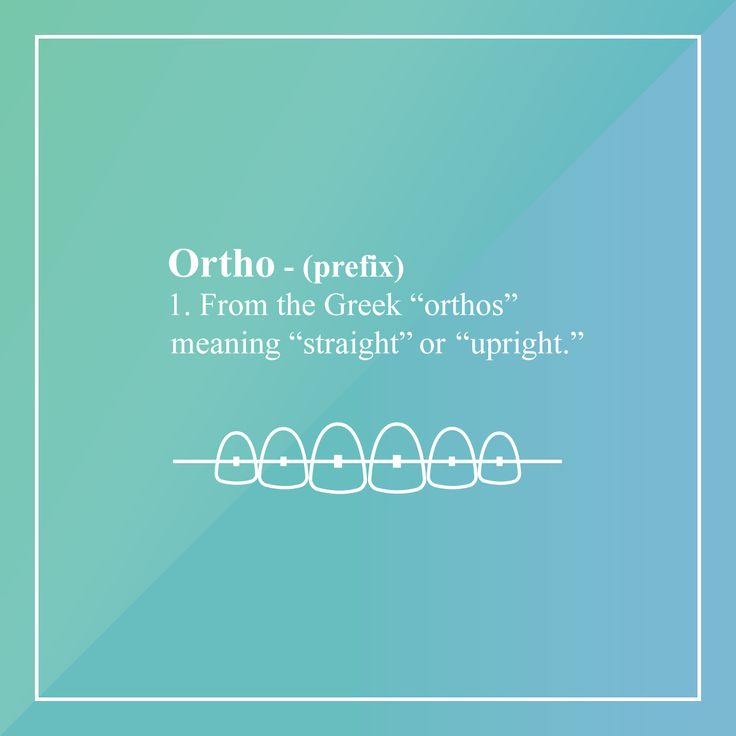 "Did you know that the word ""orthodontist"" comes from Greek words that mean ""straight"" and ""tooth""? #dentistry"