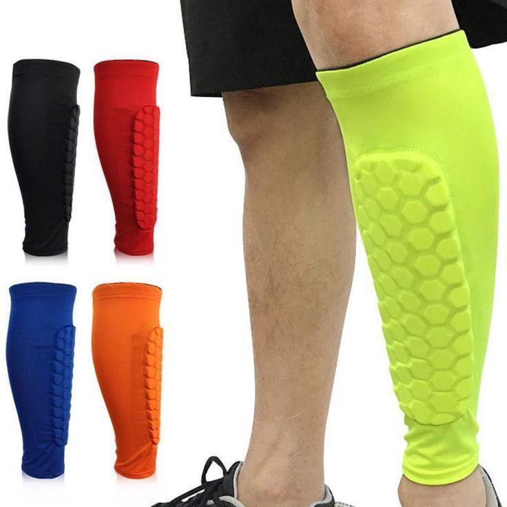 Football Shin Guards Training Soccer Honeycomb Leg Compression Protective Pads  #FootballShinChina #KneeSupport