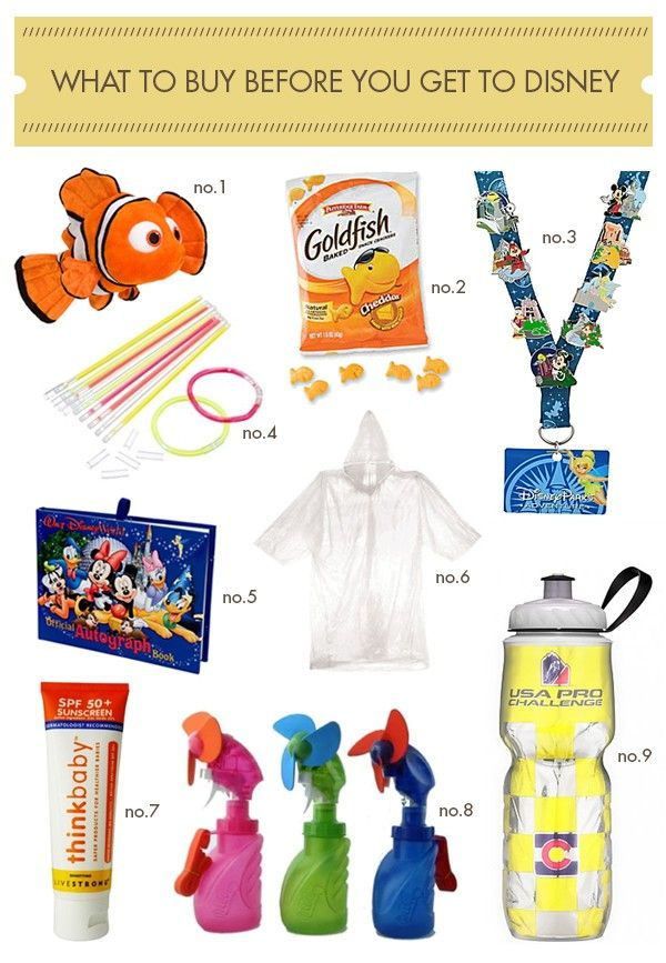 What to buy before you get to Disney // Hellobee