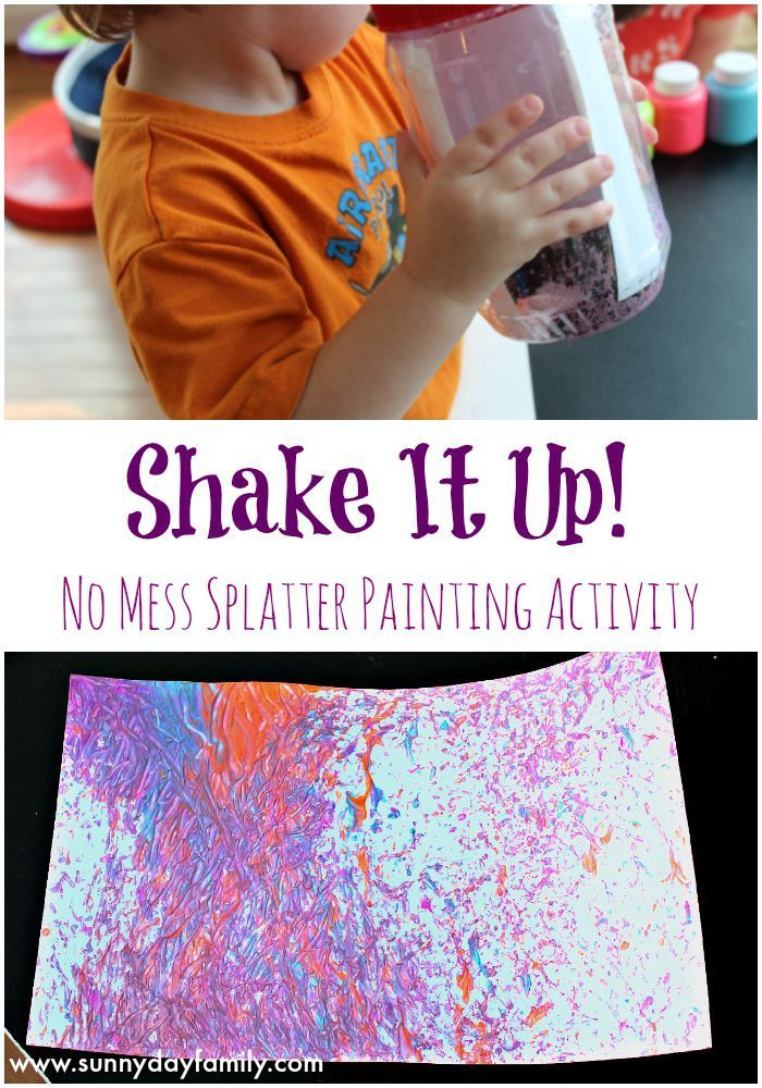 Shake It Up:no mess painting for kids! An easy, fun art project toddlers & preschoolers will love.