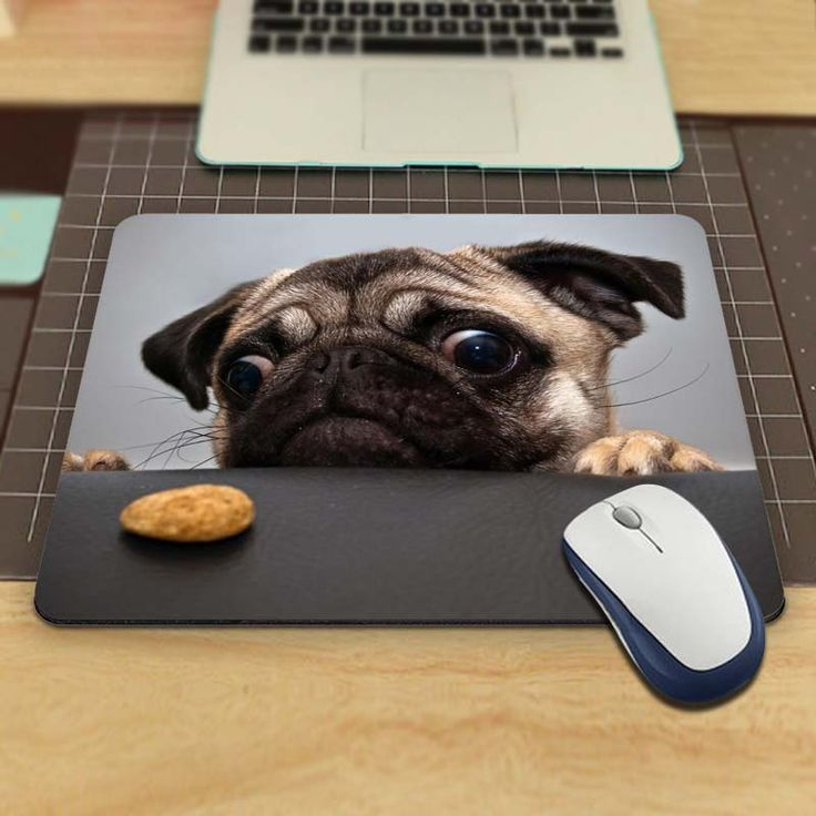 Animals Funny Animals Pug Funny Custom Mouse Pad for Size 18*22cm and 25*29cm