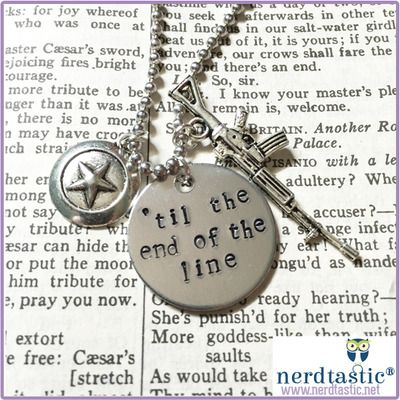 Til the end of the line stamped tag (captain america, winter soldier) Best Friend Necklaces.  Steve Rogers.  Bucky Barnes.