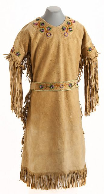 Ojibwe beaded hide dress and belt by Minnesota Historical Society, via Flickr
