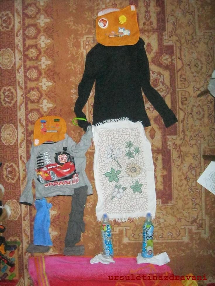 Un alt fel de arta creata de micutul nostru de 5 ani: mama si fiul :)