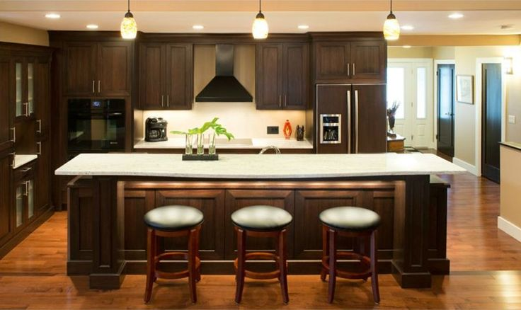 #kitchen of the day - Black stone stain Multi level island