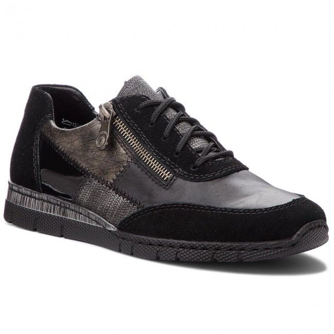 Kleista Papoytsia Rieker N5320 00 Schwarz Kombi All Black Sneakers Rieker Black Sneaker