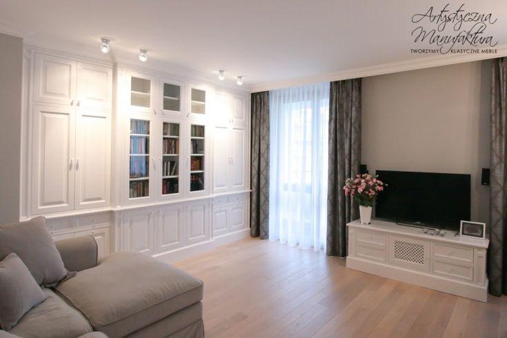 biała zabudowa meblowa, biblioteka, white built in cabinet, bookshelves