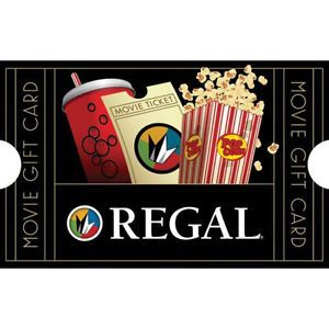 Buy a  $50 Regal Movie Gift Card & get a bonus $10 code - Email delivery