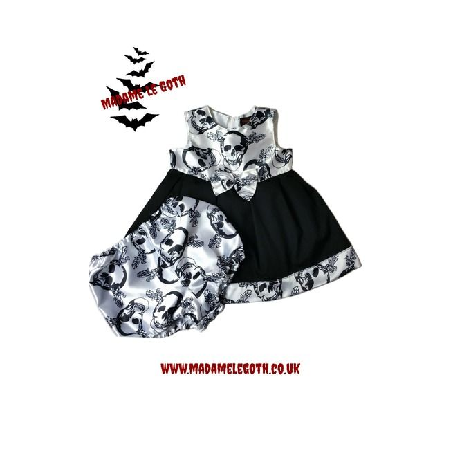 Spooky Gothic Baby & Toddler Halloween Vampire Dress By Madame