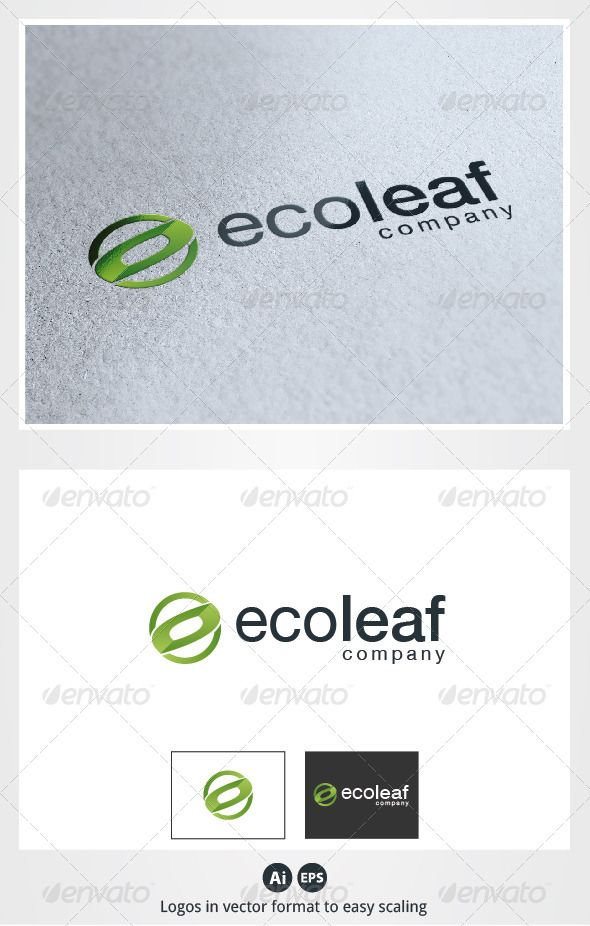 Eco Leaf Logo - Nature Logo Templates
