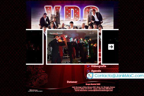 Diseño Web para grupo musical versátil. Galería interactiva, diseñado el ~2007.  Galería de fotografías: http://janikmac.com/portafolio/viral-vdo/