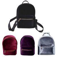 New Fashion Girl's Backpack Famous Brand Gold Velvet Backpack Female Women Designers Casual All-Match Backpack
