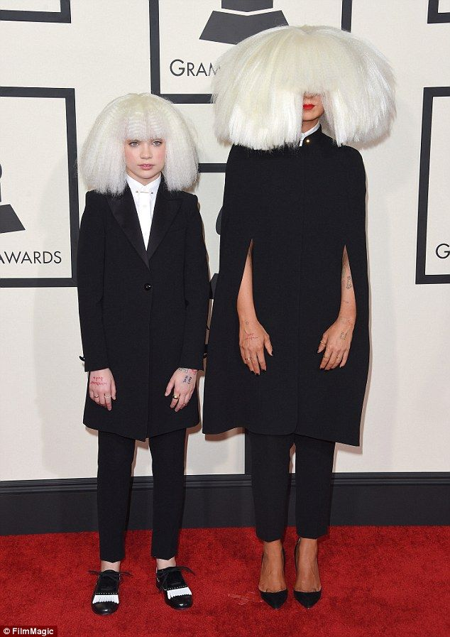 At the Grammys:Maddie Ziegler, left, poses with her mentor, singer/songwriter Sia; the teen is leaving her show Dance Moms after the already filmed sixth season airs in January