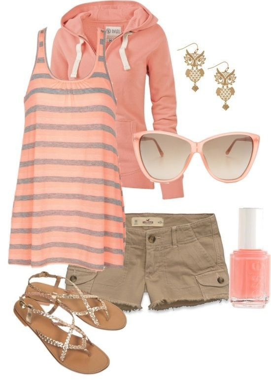 Cute summer outfit.. | elfsacks, like the color combo