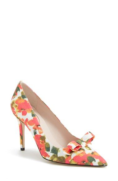Free shipping and returns on SJP by Sarah Jessica Parker SJP 'Sister' Pointy Toe Pump (Women) at Nordstrom.com. A bright, artistic floral print and a dainty bow detail enhance the sunny sophistication of an essential pointy-toe pump.