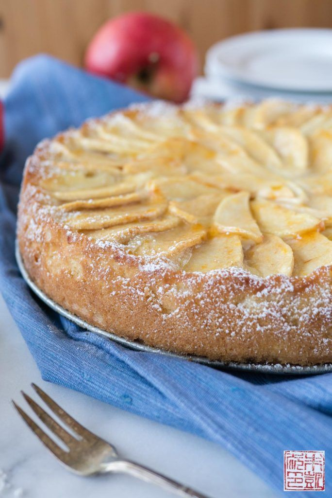 Apple Marzipan Cake Side Marzipan Cake Desserts Almond Butter Recipes
