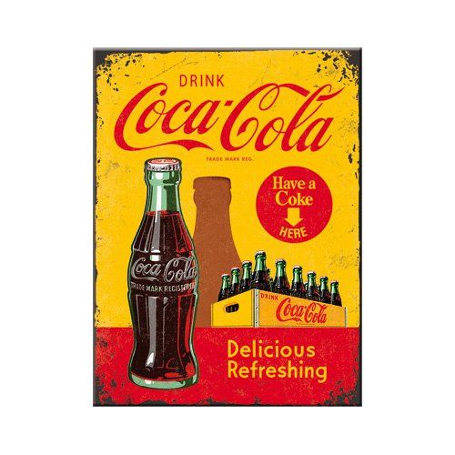 Nostalgic art 14321 coca-cola in bottles, jaune: Dimensions : 6 x 8 cm Motivfläche en métal Non aimanté Cet article Nostalgic art 14321…