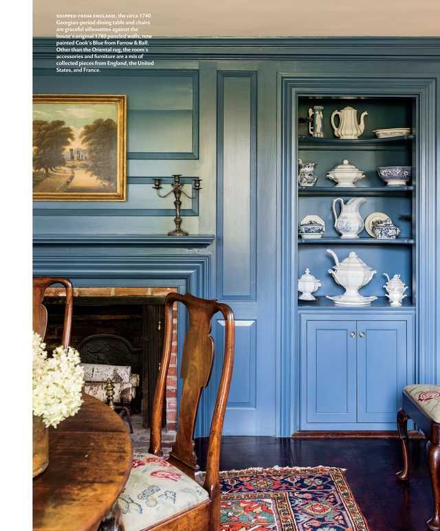 Cooks Blue From Farrow Ball Illuminate Traditional Paneling Design New England