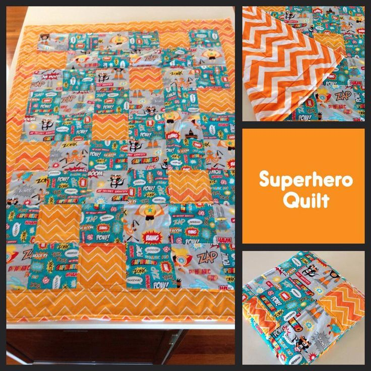 Superhero Quilt made by Katie Batie