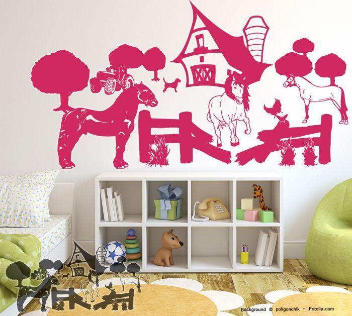 Kinderzimmer wandgestaltung bauernhof  Die besten 20+ Wandtattoo pferd Ideen auf Pinterest | Eulen ...