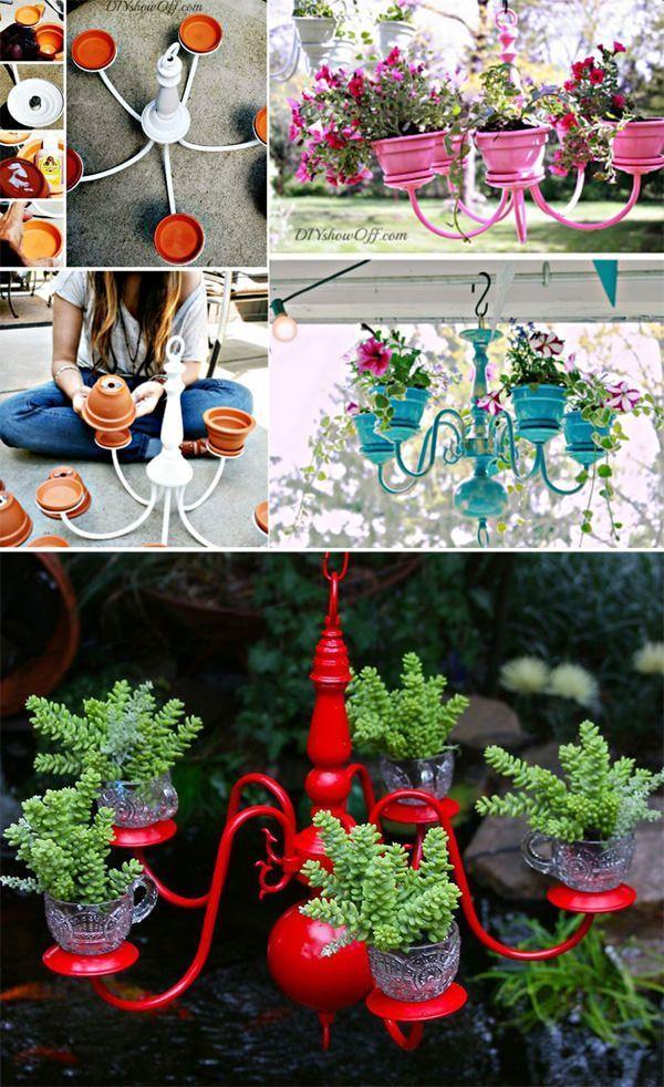 29 Wahnsinnig kreative DIY-Pflanzer Ideen für Haushaltswaren … # Haushaltswar…