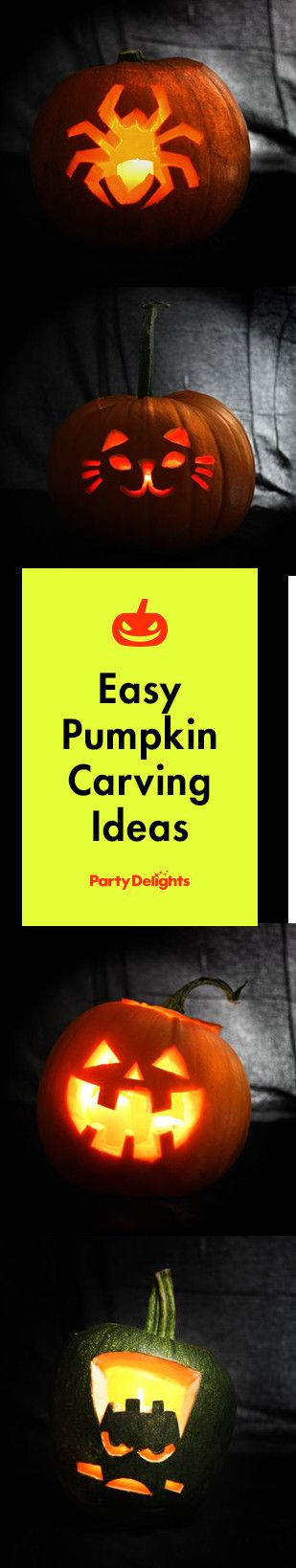 Check out our easy pumpkin carving ideas for Halloween including free pumpkin stencils in a range of spooky designs.