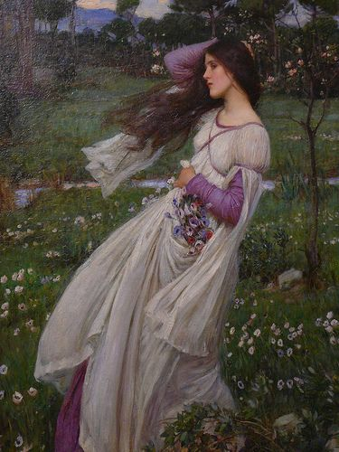 Detail of the painting Windflowers by JW Waterhouse - a photo on ...