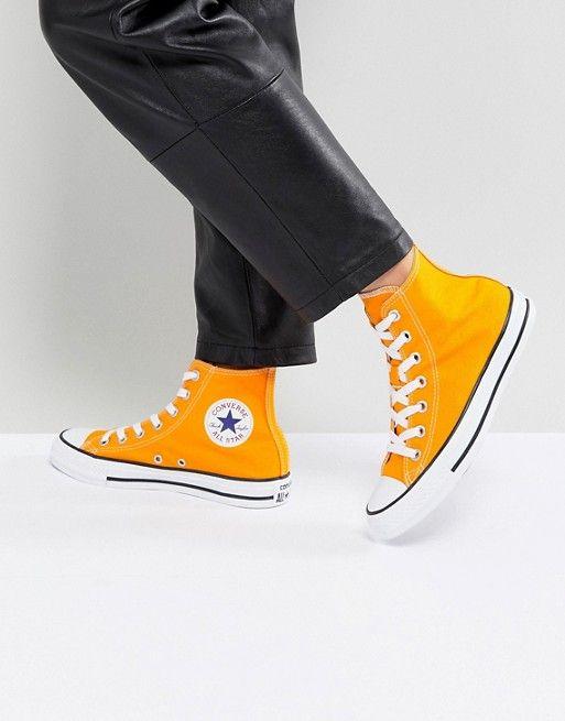 f8bde73b606a Converse Chuck Taylor All Star Hi Sneakers In Orange