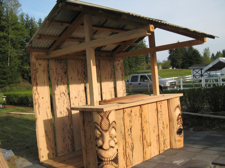 7 best tiki bar images on pinterest tiki bars backyard bar and bar ideas. Black Bedroom Furniture Sets. Home Design Ideas