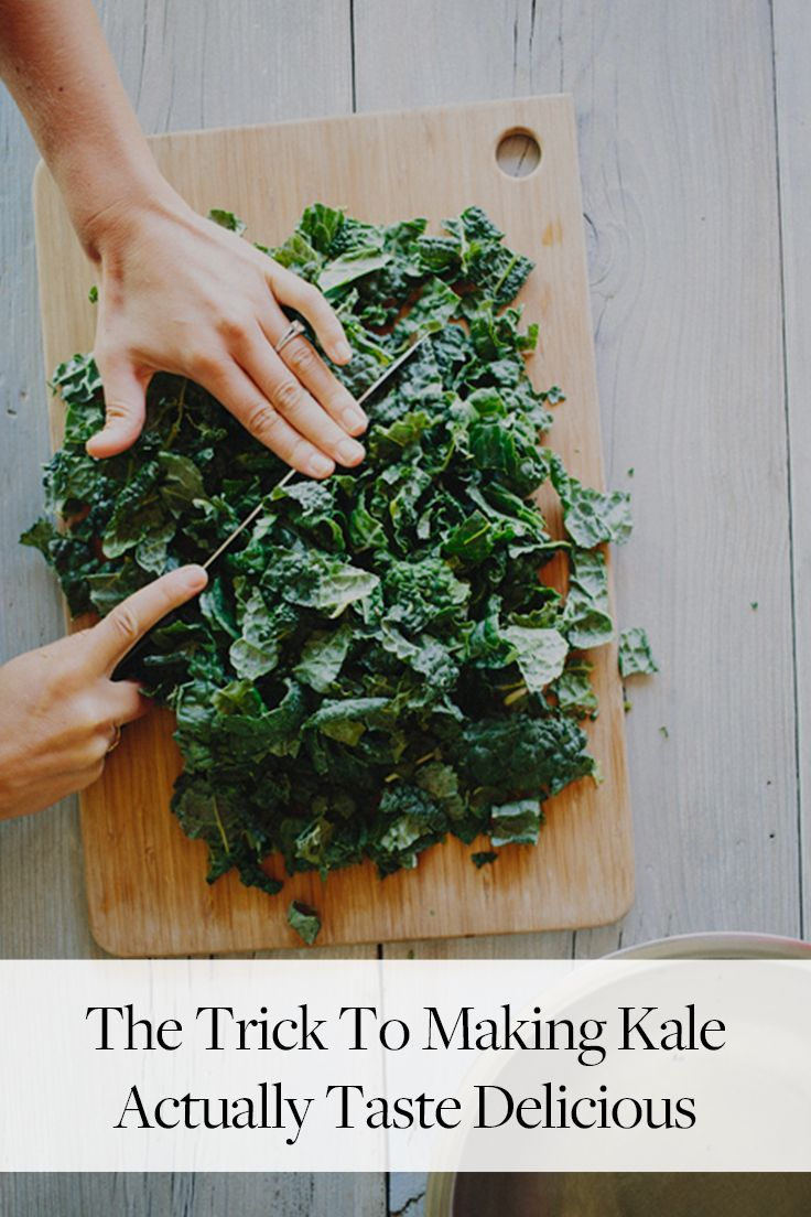 The Trick to Making Kale Actually Taste Delicious via @PureWow