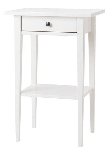 IKEA Hemnes white bedside table