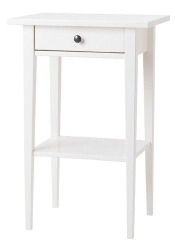 IKEA Hemnes white bedside table