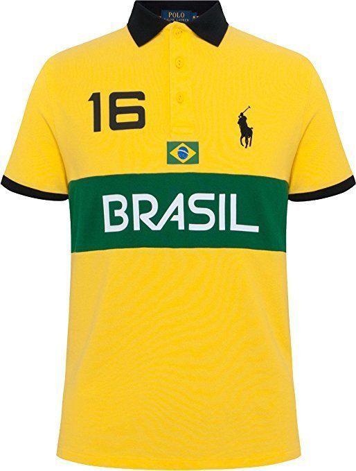 Polo Ralph Lauren Men's Brasil, Custom Fit, Print Polo Shirt NEW with TAGS #PoloRalphLauren #Shirt