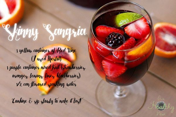 Skinny Sangria 21 Day Fix approved! Replace one yellow for a glass of this refreshing wine.