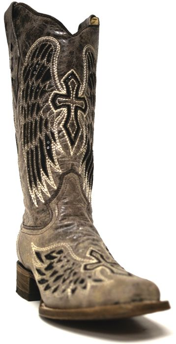 I have these and love love love them..Corral Angel Wing Cross Cowboy Boots A1197 | Women's Cowboy Boots | SouthTexasTack.com