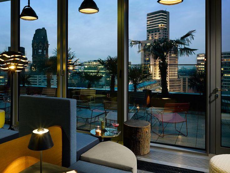 25hours Hotel Bikini Berlin Monkey Bar Rooftop Terrace Evening