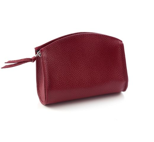 Burgundy Colour PVC Cosmetic Bag