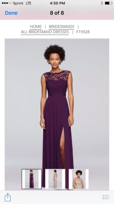 Best 25 purple lace bridesmaid dresses ideas on pinterest lace cool great long tank top lace bridesmaid dress plum purple size 16 davids bridal 2017 ombrellifo Choice Image