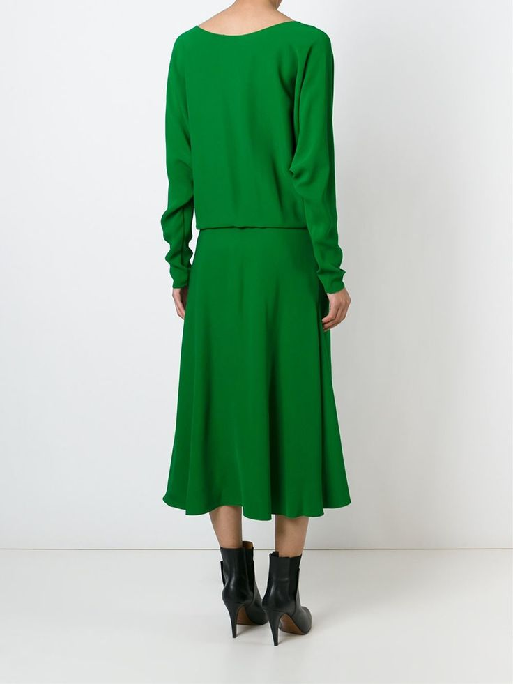 Lanvin креповое платье с вырезом-лодочкой