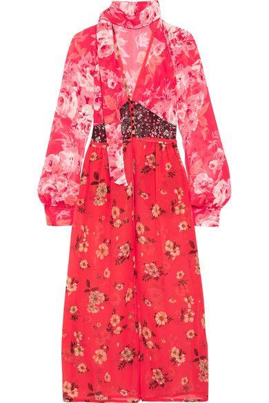 Attico   Beatriz floral-print silk-chiffon dress   NET-A-PORTER.COM