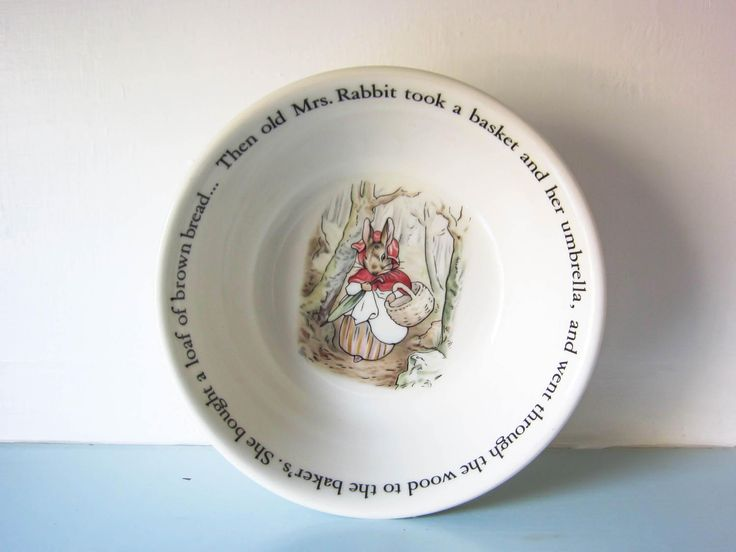 Peter rabbit, Peter rabbit bowl, Beatrix Potter peter rabbit, Christening gift, child's bowl, baptism gift, baby shower gift, Wedgwood by thevintagemagpie01 on Etsy