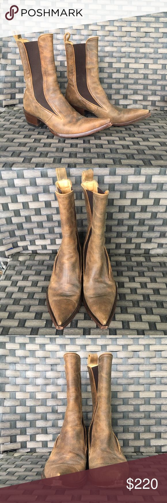 Old gringo pull on tan leather boots 😍😍 good preowned condition slight wear to the toes see photos. Old Gringo Shoes Heeled Boots