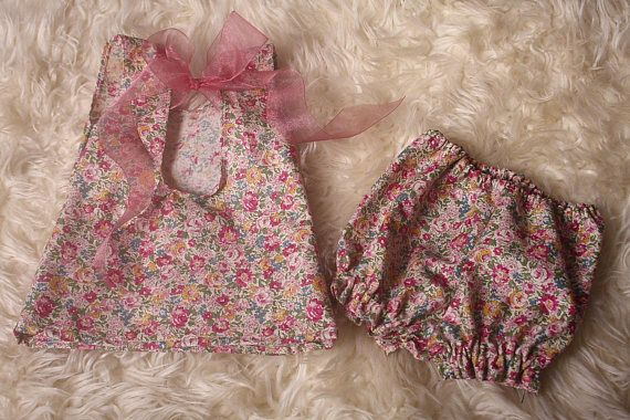 Newborn Baby GirlPink Vintage floral Printtop and
