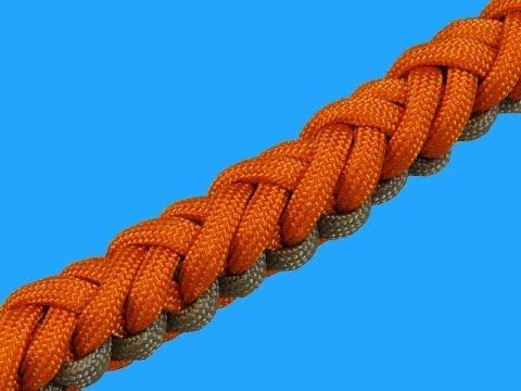 How to make a Crisscross Turks Knot Bar Paracord Bracelet Tutorial (Para...