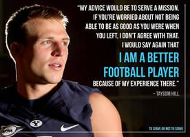 BYU quarterback Taysom Hill on how a mission made him a better football player.