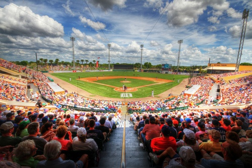 Detroit Tigers spring training at Joker Merchant stadium