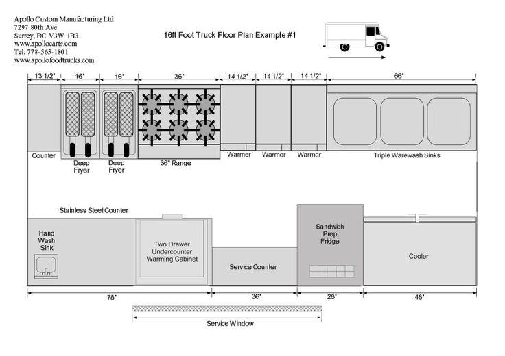 Ft Food Truck Floor Plan Camión De Comida Pinterest Food - Food truck floor plan