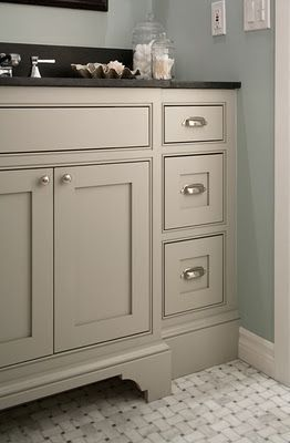 Taupe bathroom cabinets
